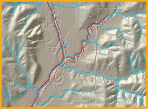 STEP 1: HYDROGRAPHY Hydrography describes the geometry of Iowa's network of stream and rivers. The DNR's statewide LiDAR data is used to locate stream channels and create a digital stream network map.