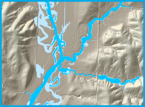 Step 4: Mapping The results of hydraulic computer models are used to create maps showing flood depths and extents. Model results are combined with LiDAR and analyzed to identify floodplain boundaries.